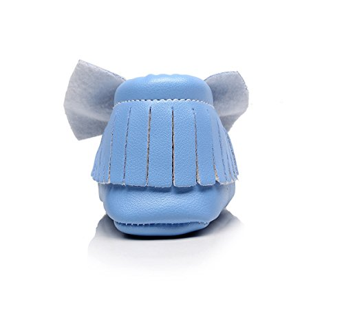 AngelaKerry - Zapatos primeros pasos de Otra Piel para niño Azul