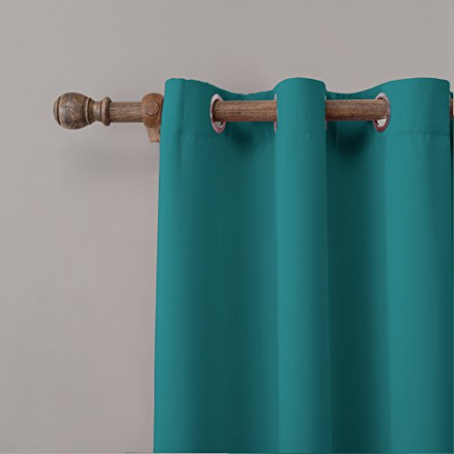 COFTY Privacy Room Divider Curtain For Hospital Ward Clinic Lab SPA Hotel Office Living Room - Anti Bronze Grommet - Turquoise - 8ft Wide x 9ft Height (1 Panel)