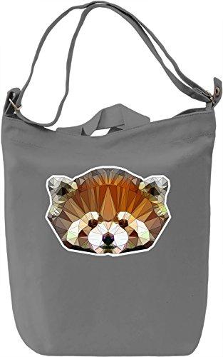 Cute Lesser Panda Borsa Giornaliera Canvas Canvas Day Bag| 100% Premium Cotton Canvas| DTG Printing|
