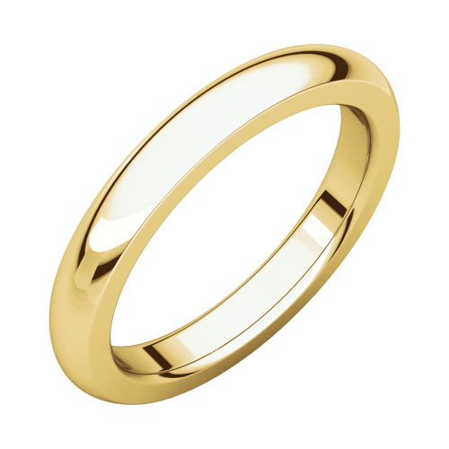 Security Jewelers 14k Yellow Gold 3mm Heavy Comfort Fit Band, 14kt Yellow Gold, Ring Size 6.5 ()
