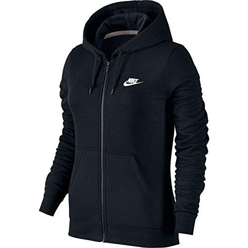 Nike Women Full Zip Fleece Hoodie (Small, Black)