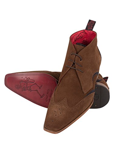 Jeffery West Uomo Scarface Shoes, Marrone Marrone