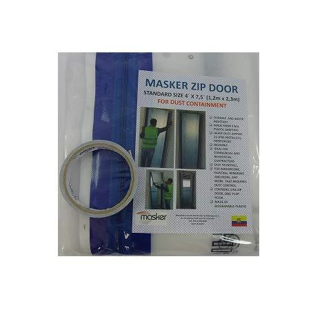 Zipper Door Kit for Dust Containment. Zip Door Standard Size 4´x 7,5´. Remodeling and Repairing Zones.