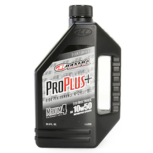 Maxima Racing Oils 30-199128 Pro Plus+ 10W-50 Synthetic Motorcycle Engine Oil - 1 Gallon -