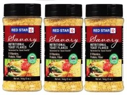 Red Star Savory Nutritional Yeast Flakes 5 oz. Shaker (Pack of 3)