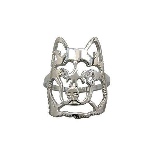 H&H jewellery Husky de Sibrie bague d'argent - 57; Bigouterie d'argent - Bague (titre 925/1000)