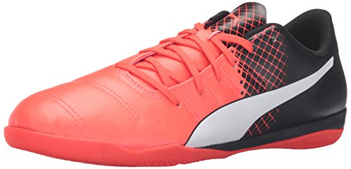 Puma hombres de evoPOWER 4.3 Tricks IT fútbol zapatos Red Blast/Puma White