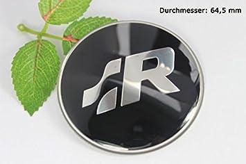 R185 R Racing 2 unidades negro Llanta Tapa 3d Emblema Auto Adhesivo Buje Tapa Tapacubos Buje tapas 64,5 mm: Amazon.es: Coche y moto