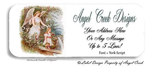 60 Guardian Angel Goddess Child Personalized Return Address Labels