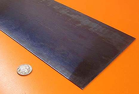 1095 Blue Temper Spring Steel Sheet.050 Thickness x 3 Width x 24 Length 1 Pc.