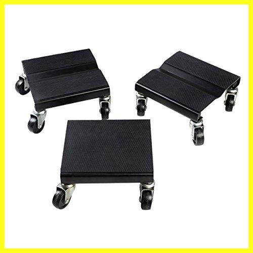 Snowmobile Roller Set 3 PCs Dolly Storage Dollies Mover Snow Mobile 1500 LBS - House Deals