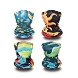 Balaclava Kids Neck Gaiter Kids Child Face Covering Gaiters for Kids Face Bandana Children 4pcs-B