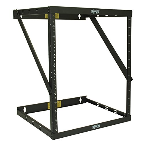 "TRIPP LITE 8U/12U/22U Expandable Wall-Mount 2-Post Open Frame Rack, Adjustable Network Equipment Rack, Switch Depth, 18"" Deep (SRWO8U22)"