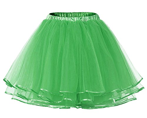 Facent Mujer Adultos Cortas Tutu Falda Tul Enaguas para Disfraz Halloween Verde