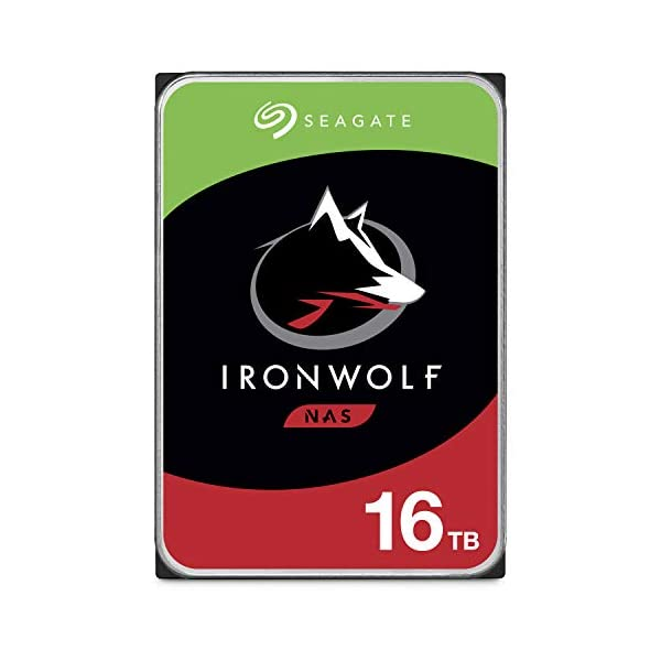 Seagate IronWolf 16TB NAS Internal Hard Drive HDD – CMR 3.5 Inch SATA 6GB/S 7200 RPM 256MB Cache for Raid Network…