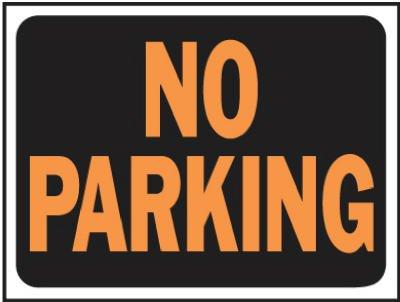 Hy-Ko 3012 9'' X 12'' Plastic No Parking Sign