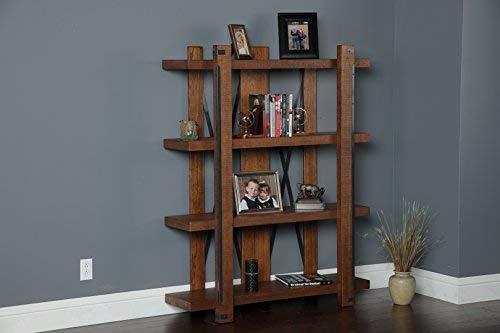 American Furniture Classics 4 Shelf Industrial Bookcase 60quot x 48quot Hewn Pallet