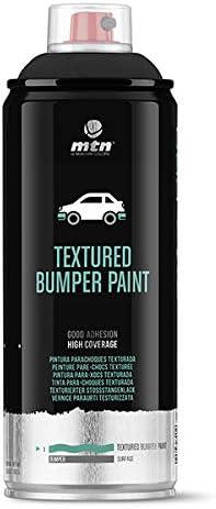 Montana Colors MTN Pro Pintura Parachoques Texturada-Negro, Spray 400ml