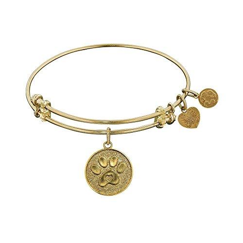 JewelryWeb Angelica Paw Print Bangle Bracelet -  RCB316312