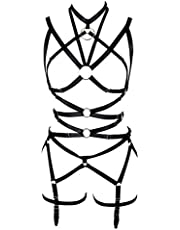 Body Harness for Women Sexy Lingerie Bondage Gothic Elastic Adjustable Bodysuit for Cosplay, Party, Dancing, Action Art