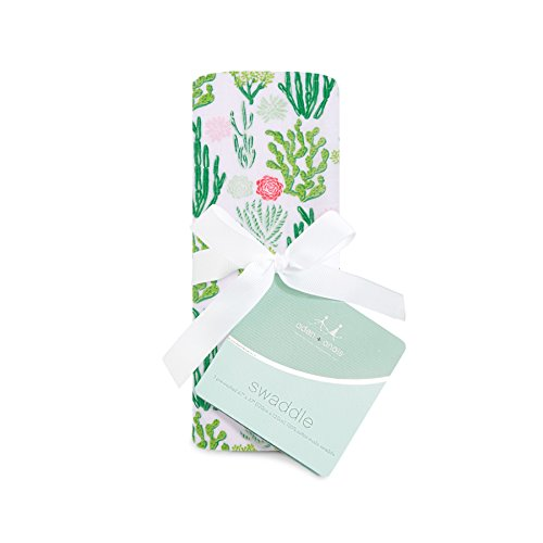 aden + anais swaddle single, cactus blooms