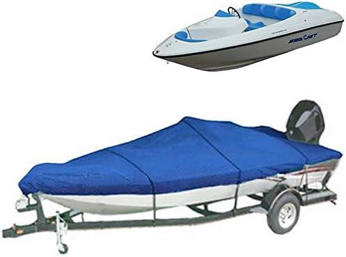 Heavy Duty Boat Cover Trailerable 11-22FT Waterproof Ski Fish V-hull Protector