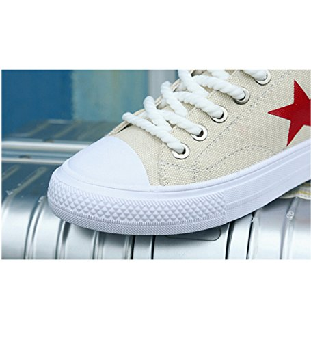 Beige Canvas Shallow With Shoes Star Mouth Star Flat Round Head Fqrw1zF