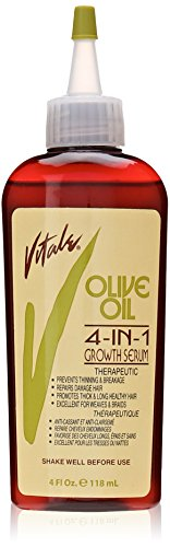 Vitale Olive Oil 4 in 1 Growth Serum, 4 Ounce