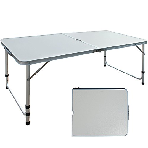 Aluminium Adjustable Camping Folding Portable Picnic Garden Patio Outdoor Table by Foldable Desk