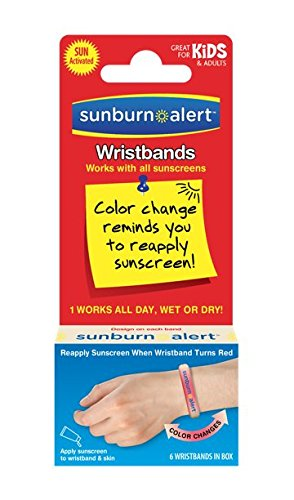 Sunburn Alert Wristbands, 15 Count