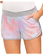 Maacie Women's Maternity Shorts Yoga Shorts Stretch Pregnancy Shorts
