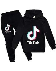 Dgfstm Girls TIK Tok Hoodies Unisex Kids Clothing Sets Hoody+Trousers