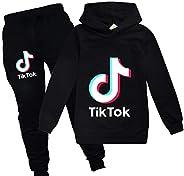 Flovey Boys & Girls TIK Tok Hoodies Unisex Sweatshirt Kids Clothes Set Trou