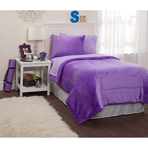Latitude Royal Plush Bed in A Bag, Queen, Lavender
