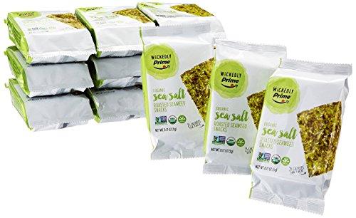 Seaweed Roasted (Wickedly Prime Organic Roasted Seaweed Snacks, Sea Salt, 0.17 Ounce (Pack of 12))