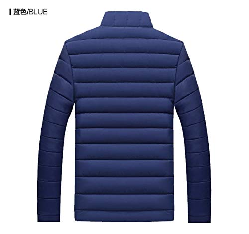 Puffer Thicken Mens Blue Energy Solid Jacket Size Collar Cotton Plus Stand q86w5v6d