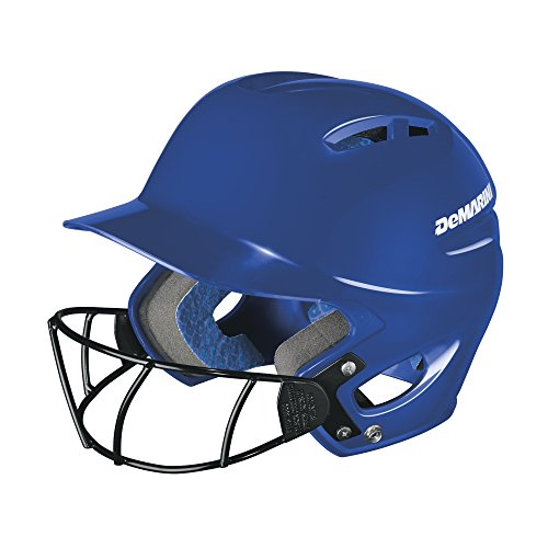 DeMarini Paradox Protege Pro Batting Helmet with Mask, Royal, Large/Extra Large (7-7 5/8) - Batting Helmet Fit