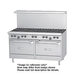 Garland G60 8g12rr G Starfire Pro Series Gas Restaurant Range 60w With 8 33 000 Btu Open Burners 12 Griddle 2 Standard Ovens