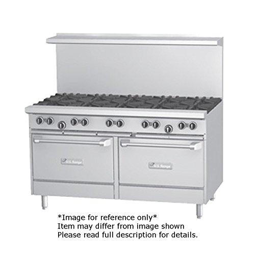 Garland U60-8G12RR U Series 60'' Gas Restaurant Range with (8) 32,000 BTU Open Burners, 12'' Griddle & (2) Standard Ovens by Garland/US Range