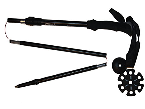 WSD 4 Season ski Poles Tri-Fold Trekking Poles/Sticks Folding Collapsible Adjustable and Ultralight - Perfect for Skiing,Hiking, Walking, Backpacking Pair with 2 Pairs of Baskets