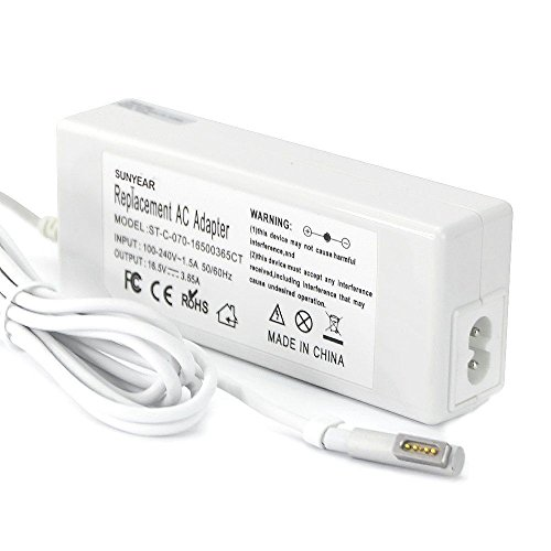 2003 Apple - Sunyear Ultra-small 60w Ac Adapter Power Supply Charger with Charging Cord/cable for Apple 13 Inch 2002 2003 2004 2005 2006-2010 Macbook