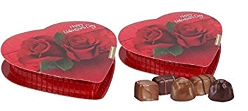 Pack Of 2 Elmer Chocolate Samplers In Heart Shaped Boxes  Made In Usa  Perfect For Valentines Day