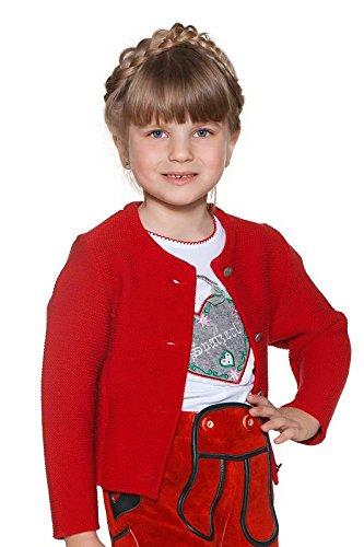 MOSER Trachten Kinder Strickjacke rot 140050 von Isar Trachten Material Polyacryl