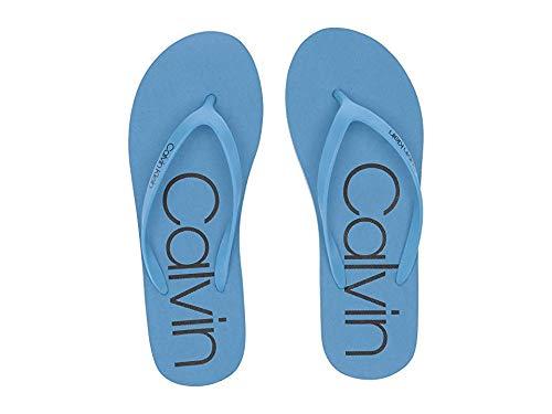 Calvin Klein Women's Salma Dusty Blue/Black 10 M US (Calvin Klein Sandal Shoes Men)