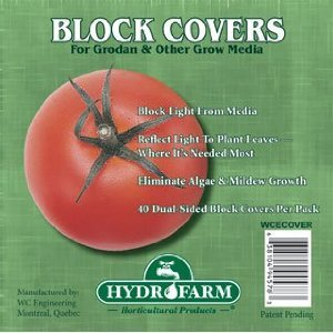 Hydrofarm HGCOV4 Rockwool Block Cover (40 Pack), 4″