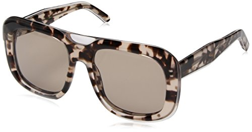 Calvin Klein Women's Ck4341s Oversized Oval Sunglasses, Crystal Rose Havana, 57 mm by Calvin Klein