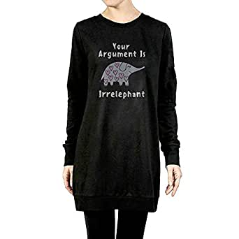 Your Argument Is Irrelephant Fashion Pullover Hoodie Sweater Long Sleeve For Women