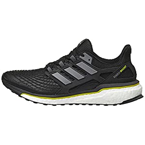 adidas Men's Energy Boost M Running Shoe, Core Black/Night Metallic/Vivid Yellow, 8 M US