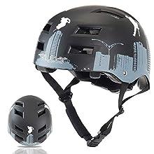 Flybar Dual Certified CPSC Multi Sport Kids & Adult Bike And Skateboard Adjustable Dial Helmet,Flyscraper,S/M