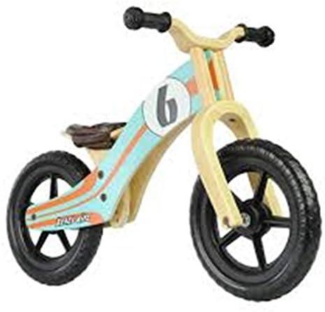 Bicicleta sin Pedales Niño Rebel Kidz Le Mans Madera Azul Naranja ...